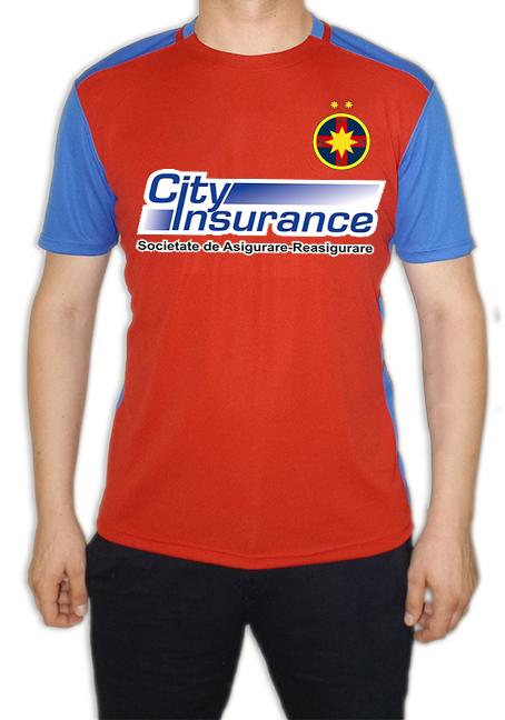 Tricou replică adulți rosu/albastru produs sub licenta FCSB