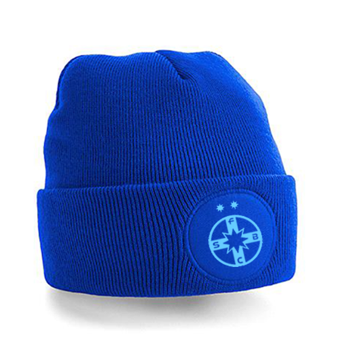 Caciula FCSB albastra  tricotata dubla produs oficial sub licenta FCSB