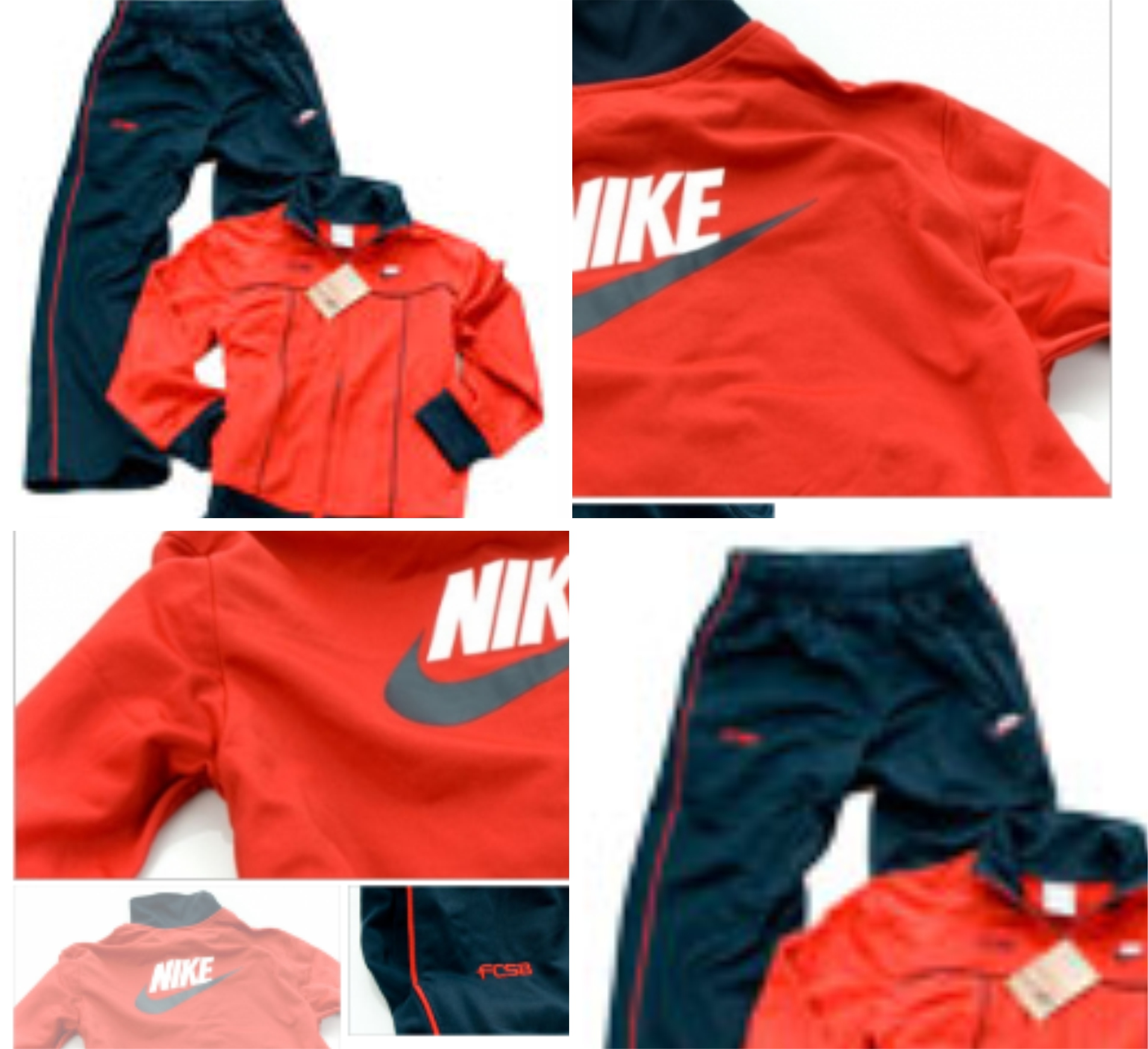Trening Nike junior poliester roșu/navy