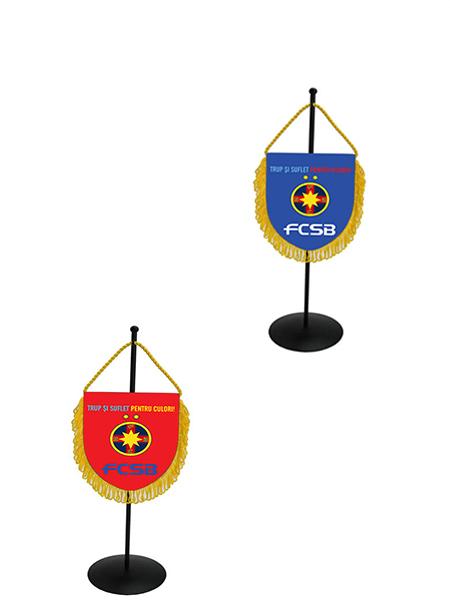 Fanion rosu /albastru produs sub licenta FCSB