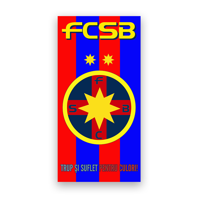 Prosop 50x100 cm produs sub licenta FCSB